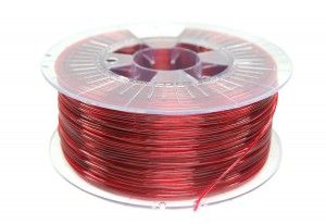 Filament Spectrum PETG Transparent Red 1kg 1,75mm